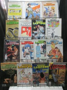 National Lampoon Humor Magazine Lot of 15Diff from 1973 to 1991 Refined Antics