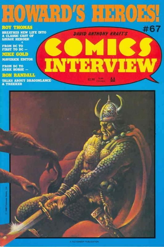 Comics Interview #67 FN; Fictioneer | save on shipping - details inside