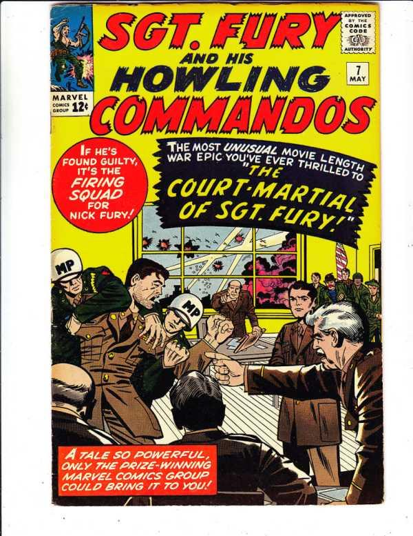 Sgt. Fury and His Howling Commandos #7 (May-64) FN+ Mid-High-Grade Sgt. Fury,...