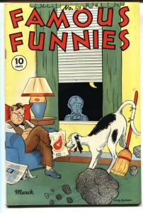 FAMOUS FUNNIES #128-BUCK ROGERS-SCORCHY SMITH VF-