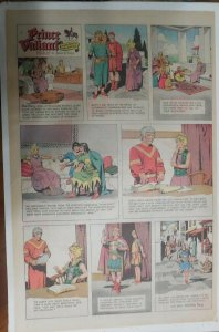 Prince Valiant Sunday #1626 by Hal Foster from 4/7/1968 Rare Full Page Size !