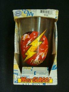 The Flash DC Comics 16oz Glass Flash Collage Pub Glass toonlabsink