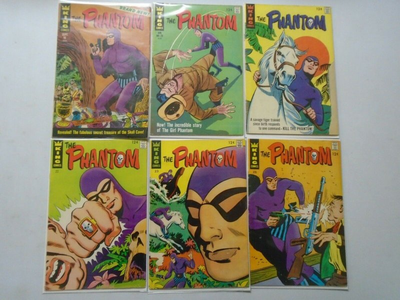 The Phantom From: #18-25 6 Different Books 5.0 (1966+67)