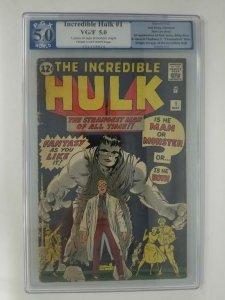 1962 Marvel The Incredible Hulk #1 PGX 5.0 (VG/FN); Origin of the Hulk