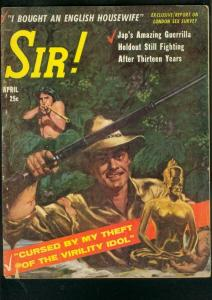 SIR! PULP-APR 1958-WILD JUNGLE COVER-CHEESECAKE-CRIME G