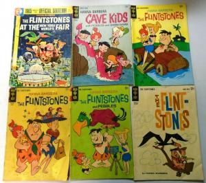 Silver Age Gold Key Flintstones, Comic Lot, 11 Different, Very Good Condition