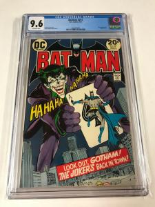 Batman 251 Cgc 9.6 Off White Pages Famous Joker Cover Neal Adams Dc Comics