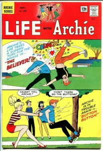Life With Archie #43 1965-Betty-Veronica-Archie gets beat up cover-VF-