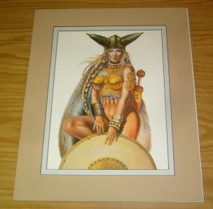 Chris Achilleos' Amazons Print: Queen Boadicea 1 - signed bad girl art