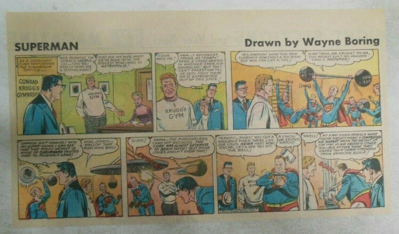 Superman Sunday Page #1177 by Wayne Boring from 5/6/1962 Size ~7.5 x 15 inches