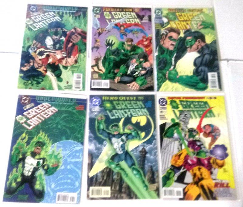 Green Lantern Comic Lot of (6) DC Comics Hal Jordan Kyle Rayner CL#060