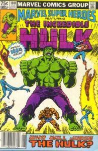 Marvel Super-Heroes (1967 series) #100, VF+ (Stock photo)