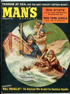 Man's Magazine February 1960-TEEN-AGE TERROR LAND/CHEESECAKE FN