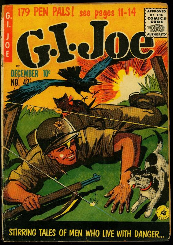 G.I. Joe #42 1955- Ziff-Davis Korean War Comic POOR/FAIR