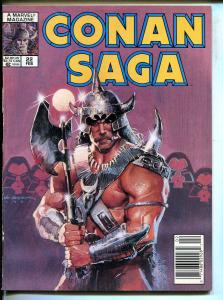 CONAN SAGA BARGAIN LOT OF 4 1989-MARVEL-STAN LEE-ISSUES 22-#23-#24-#25