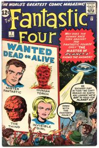 FANTASTIC FOUR #7, VF-, 1st Kurrgo, Planet X, Jack Kirby,1961,more in store, QXT