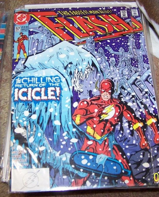 FLASH COMIC # 57 HOT cw tv show  THE ICICLE+  WALLY WEST