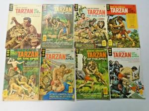 Gold Key Burroughs Tarzan lot 45 different books VG (silver + bronze)