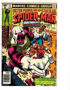 5 Peter Parker, The Spectacular Spider-Man Marvel Comics # 41 42 45 47 55 BH38