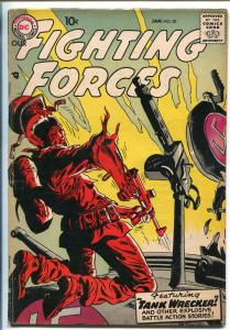OUR FIGHTING FORCES #29-1957-DC-SILVER AGE-TANK WRECKER-VIOLENT-JOE KUBERT-fn-