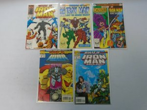 What If? comic lot 5 different Iron Man issues 8.0 VF