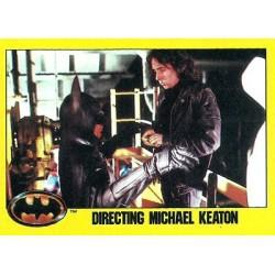 1989 Batman The Movie Series 2 Topps DIRECTING MICHAEL KEATON #242