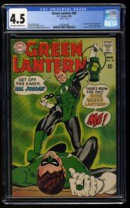 Green Lantern #59 CGC VG+ 4.5 Off White to White 1st Guy Gardner!
