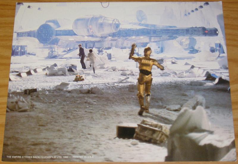 Star Wars: the Empire Strikes Back full color movie stills set of (8) 11x14