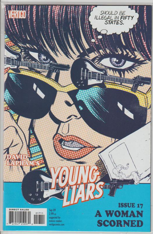 YOUNG LIARS #17 - A WOMAN SCORNED - VERTIGO  - BAGGED & BOARDED