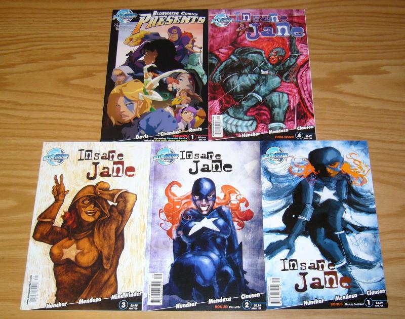 Insane Jane #1-4 VF/NM complete series + bluewater comics presents - set lot 2 3