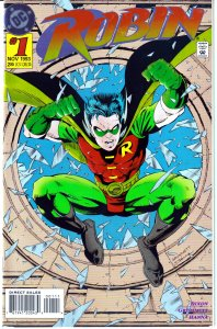 Robin(vol. 1) # 1,8-9,14,56,100 Knight's End, Troika, and Batman's New Costume !