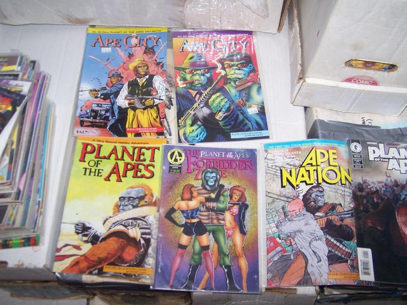 6 planet of the apes books  forbidden zone+ ape nation +ape city