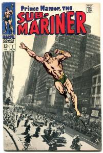 SUB-MARINER #7 1968-PHOTO COVER-MARVEL 12 CENT VG+
