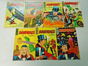 Silver Age King Mandrake the Magician Comic Lot Run #2-8 7 Different 4.0 VG
