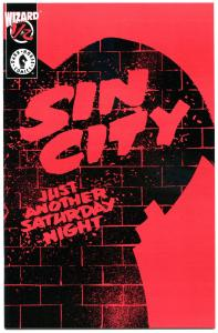 SIN CITY JUST ANOTHER SATURDAY NIGHT #1/2, NM, Frank Miller, Wizard, COA, 1997