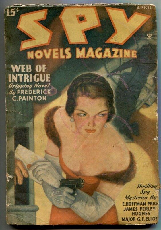 Spy Novels Pulp #2 April 1935-Web of Intrigue G