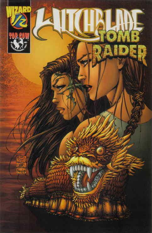 Witchblade Tomb Raider 1 2a Half Vf Nm Image Save On