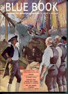 BLUE BOOK PULP-JUNE 1949-VG/FN-FULTON COVER-BRANDON-FOOTE-STUART VG/FN