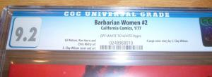 Barbarian Women #2 CGC 9.2 high grade underground comix - s. clay wilson 1977