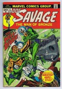 Doc Savage #4 ORIGINAL Vintage 1973 Marvel Comics