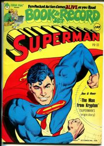 Superman Book & Record Set #PR33 1978-DC-Superman comic with record-FN