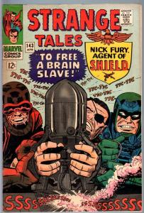 STRANGE TALES #143-NICK FURY/DR. STRANGE-MARVEL-JACK KIRBY-FN FN