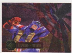 1995 Flair Marvel Annual Powerblast Card #14 Captain America