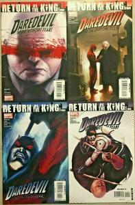 DAREDEVIL#116-119 NM LOT 2009 'RETURN OF THE KING' MARVEL COMICS