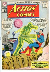 ACTION COMICS #294 DC SUPERMAN 1962 LEX LUTHOR-Silver G+