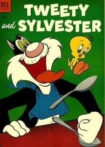 Tweety and Sylvester (1952 series) #5, Fair+ (Stock photo)