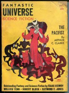 Fantastic Universe Science Fiction 10/1955-pulp-Hannes Bok-Bloch-Asimov-FR/G