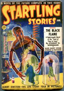Startling Stories Pulp #1 January 1939-Robot cover- Einstein- Black Flame VG/F