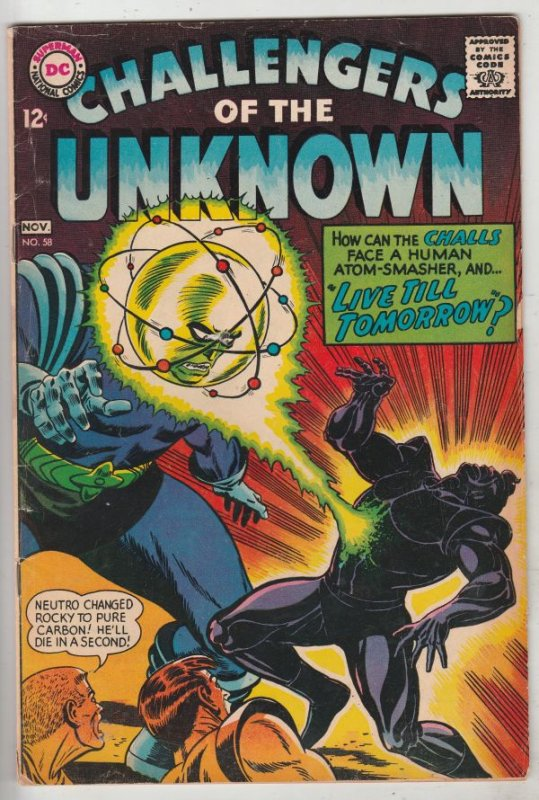 Challengers of the Unknown #58 (Nov-67) VG/FN+ Mid-Grade Challengers of the U...