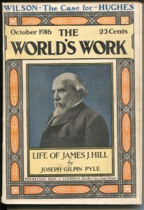 World's Work 10/1916-Doubleday-James J Hill-Mexican Crime-FR/G